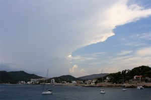 Gewiterwolken hinter Capdepera