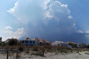 Gewitterwolken hinter Son Sera de Marina