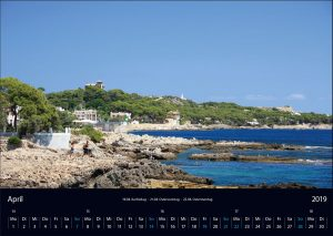 "Wandkalender ""Cala Ratjada 2019"" April"