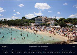 "Wandkalender ""Cala Ratjada 2019"" August"