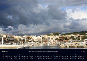 "Wandkalender ""Cala Ratjada 2019"" Januar"