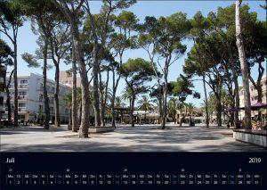"Wandkalender ""Cala Ratjada 2019"" Juli"
