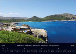 "Wandkalender ""Cala Ratjada 2019"" Juni"