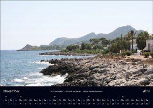 """Wandkalender """"Cala Ratjada 2019"""" November"""