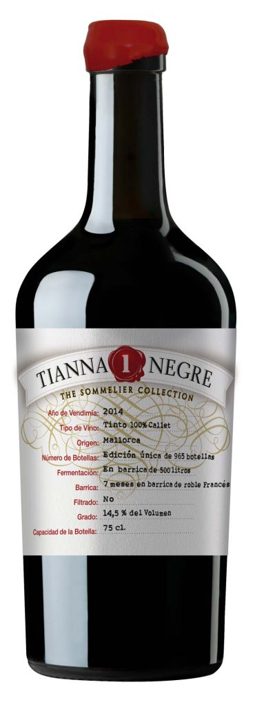 """TIANNA """"1"""" Col.leccio aus der Sommelier Collection - limitierter Jahrgangswein."""