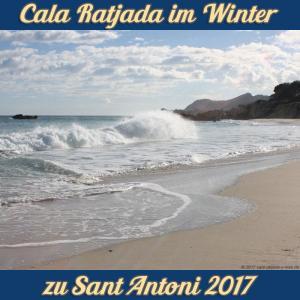 Cala Ratjada zu Sant Antoni im Januar 2017 - Brandung Son Moll