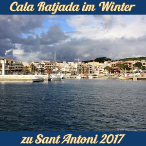 Cala Ratjada zu Sant Antoni im Januar 2017 - Hafen in der Nachmitagssonne