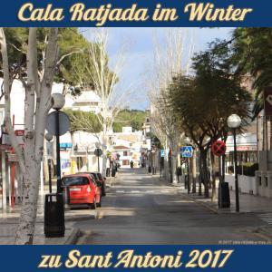 Cala Ratjada zu Sant Antoni im Januar 2017 - leere Straßen