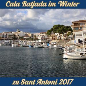 Cala Ratjada zu Sant Antoni im Januar 2017 - Nachmitagssonne im Hafen
