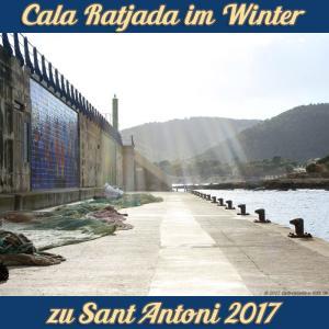 Cala Ratjada zu Sant Antoni im Januar 2017 - Hafenmauer
