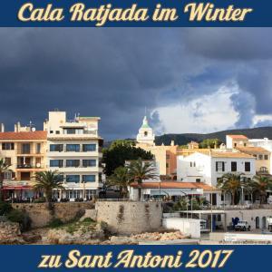 Cala Ratjada zu Sant Antoni im Januar 2017 - Die Kirche zwischen Sonne und Wolken
