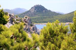 Wanderung L'olla Blick auf den Puig de s'Àguila